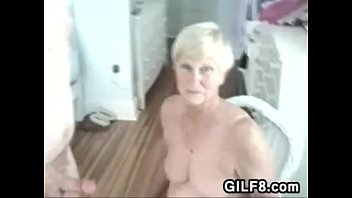 giving youngsters to a Grandmas blowjob