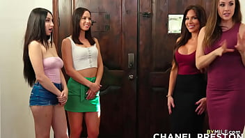 Stepmoms And Stepdaughters Having Lesbian Foursome