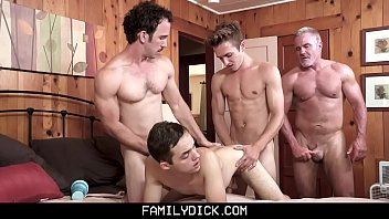 FamilyDick - Sneaky Boy Gets Barebacked By His Stepgrandpa, Stepdad, And Stepbrother