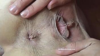 Cue ball in vagina Model n spread
