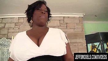 Mega Milkers Ebony BBW Marliese Morgan Stimulates Her Pussy with Sex Toys thumbnail