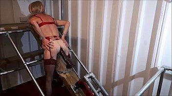 Machine fucked shemales - Rachelsexymaid - 35 - 17 inch cockzilla dildo by fuck machine