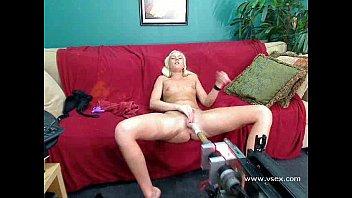Fuck machine sex Blonde amateur babe webcam sex machine