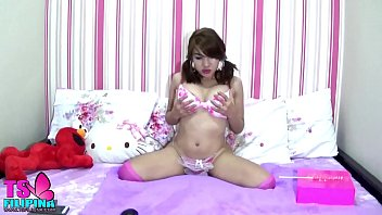 Transsexual philippines Ts filipina sweet shemale play and licks candy