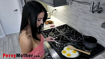 PervyMother.com - Cooking Eggs for My Sons's Cock