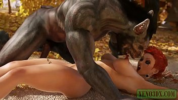 Xxx red toons Little red riding hood attacked fucked by 3d monster werewolf in mystique forest. 3dx fairy tail parody