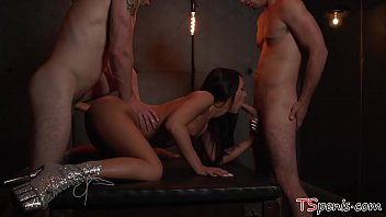 Passionate Anal Threesome With T-Girl Khloe Kay