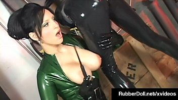 Girls in latex and rubber - Sexual deviant rubberdoll flogs traps psylocke in a box