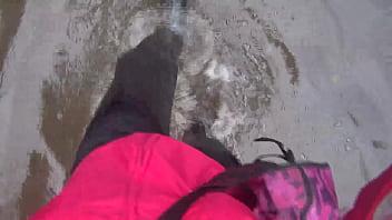 Rainwear fetish See me walking