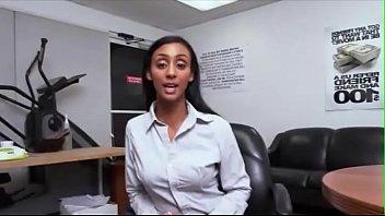 Sexy ebony bubble bum secretary