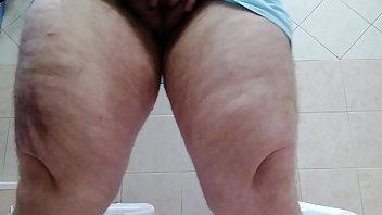 Horny trans man masturbates in the bathroom