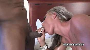 Busty blonde Brooke Jameson gets nailed with a black cock preview image