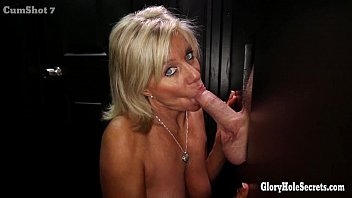 Blow jobs cum shots - Gloryhole secrets mature blonde shows off her years of skill