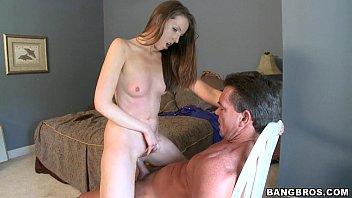 Sexy Small Tit Teen Fucks Older Guy