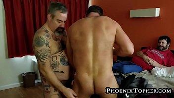 Three horny boys three bareback ramrods