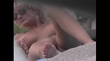 Nude Beach Voyeur Video - Cougar MILF Naked At The Nude Beach