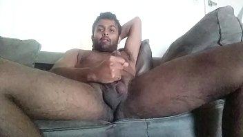 Masturbating in living room