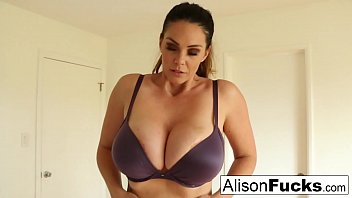 Alison Tyler talks to the viewer while playing with herself!