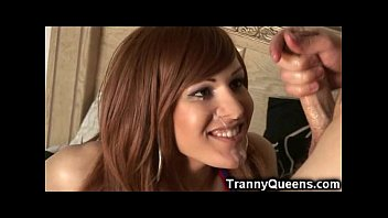 Transsexual university cheerleader - Emo ts cheerleader gets facialed