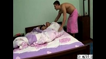 Sleeping teen sister enjoying morning sex with brother HotGirlsX.Net