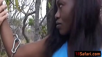 Ebony Teen Forced Into Blowing White Rod Outdoorsdit-Ass-3