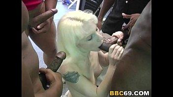 Bisexual Brittini Interracial Gangbang image