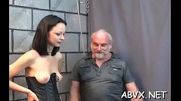 Naked doll excellent fetish bondage sex scenes with old man