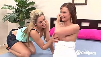 Cassie Courtland and Marlie Moore Ride A Double Sided Dildo