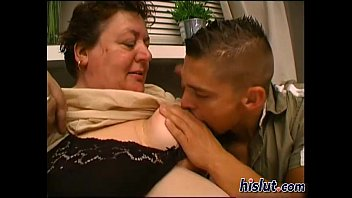 Slutty granny gets pounded by a young stud