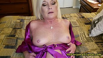Milf in satin - Ms paris and her taboo tales mommys feet