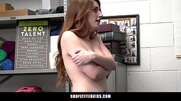 Ginger Stuffs Merch In Her Sweater Gets Caught And Fucked