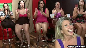 Women group naked - Crazy dancing bear party