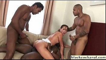 Cunt violation Interracial double penetration sex