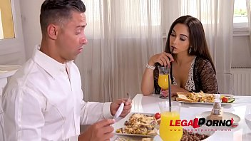 Horny sex addict Ginebra Bellucci licked & fucked by stud in the kitchen GP503