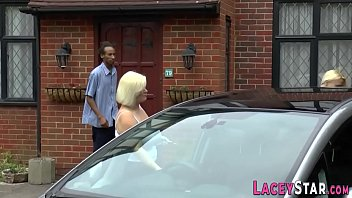 Gran in interracial 3way