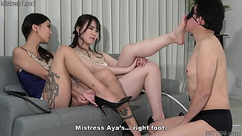 Japanese Women Let Slave Smell Them And Give Slave Their Spit