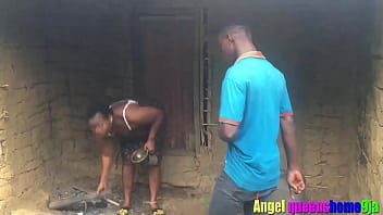 Some where in Africa angel queenshome9ja, BBW patricia 9ja caught banging by Teen Ebony amateur pornstar bang king empire at his grandma Local hut thumbnail