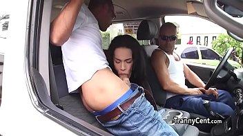 Latina sheshaft takes bukkake