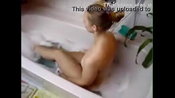 big butt blonde in the bathtub