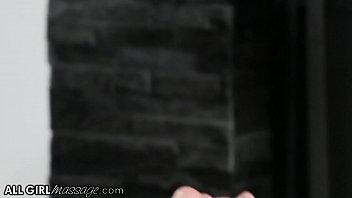 AllGirlMassage Cherie DeVille Brings Her Stepdaughter To A Scissoring Foursome Massage