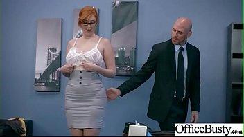 (Lauren Phillips) Office Girl With Round Big Boobs Enjoy Hard Sex movie-18
