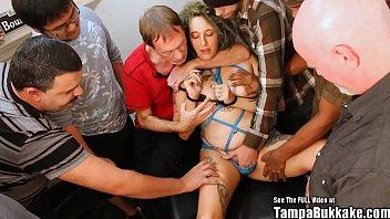 Pregnant ANAL Gangbang Slut With Tattoos Bukkake Party! Thumb