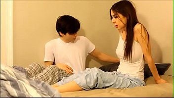 Hot Stepsister Melissa Sharing bed and helping brother