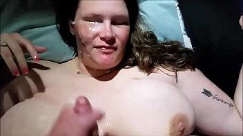 Hot Titfuck With A Plump Wife - Facial Cumshot