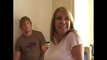Mom fucked by two young studs