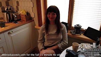 hot new estonian girl daria brutal dildo casting