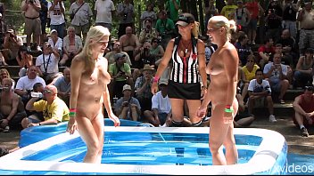 Chicago world naked - Chicago amateurs oil wrestling at nudist resort