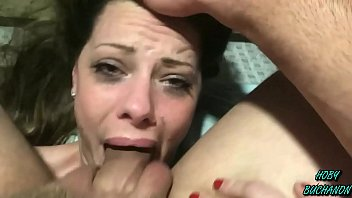 Step Daughter Takes a Choking Slapping Rough Skull Fuck for Father's Day (FULL SHOOT)