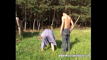 Sex matures in farms - Mature redhead fucked by the farm boy outdoors