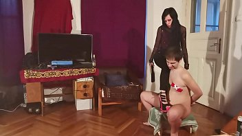 Humiliating my brother w spanking asskicking & boot worship pt2 HD